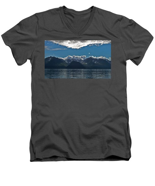 Men's V-Neck T-Shirt featuring the photograph Bright And Cloudy by Aimee L Maher Photography and Art Visit ALMGallerydotcom