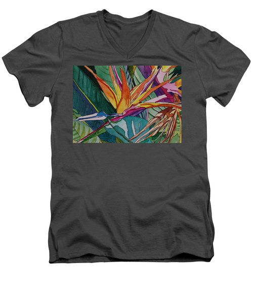 Brillant Bird Of Paradise Men's V-Neck T-Shirt