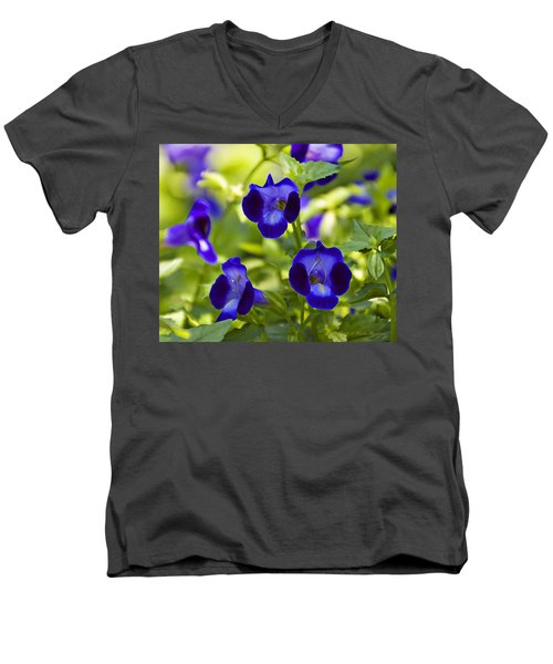 Brilliant Blues  Men's V-Neck T-Shirt