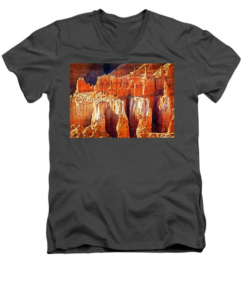 Men's V-Neck T-Shirt featuring the photograph Brilliant Bryce by Marty Koch