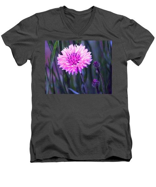 Brilliant Button Men's V-Neck T-Shirt