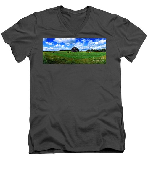Brimley Farm Near  Sault Ste Marie Michigan  Men's V-Neck T-Shirt