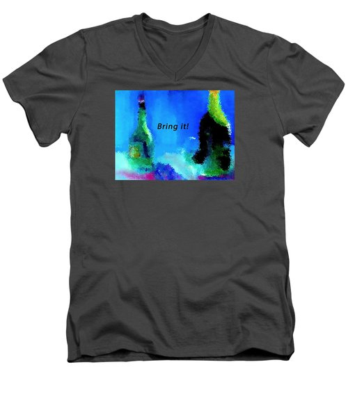 Men's V-Neck T-Shirt featuring the painting Bring It by Lisa Kaiser