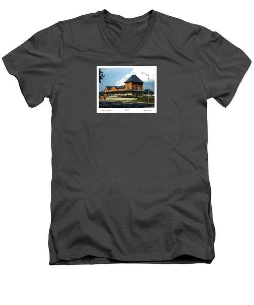 Bristol Train Station Bristol Virginia Men's V-Neck T-Shirt