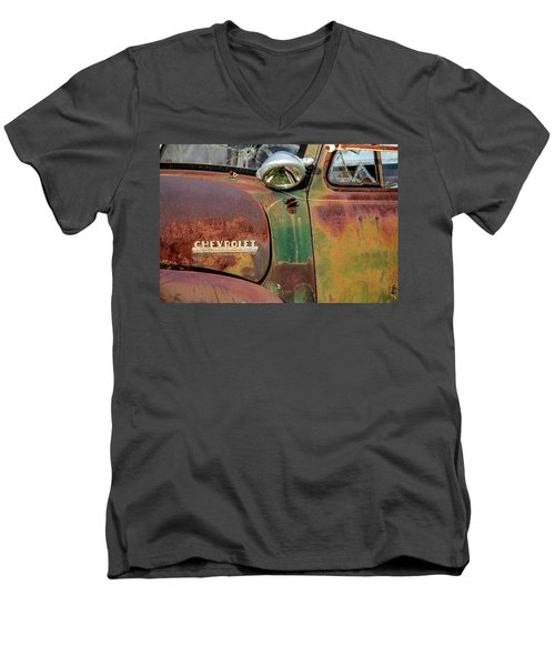 Men's V-Neck T-Shirt featuring the photograph Broken Dreams by Steven Bateson