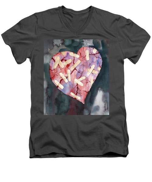 Broken Heart Men's V-Neck T-Shirt