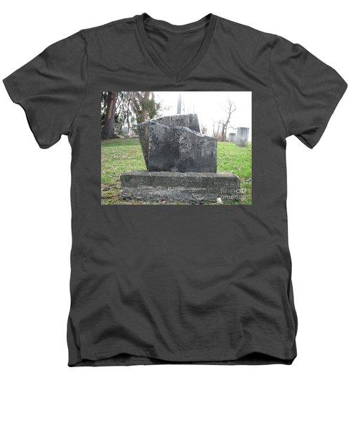 Men's V-Neck T-Shirt featuring the photograph Broken by Michael Krek