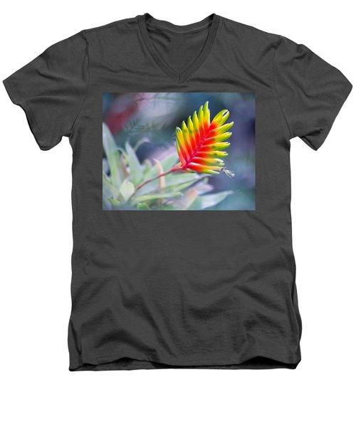 Bromeliad Beauty Men's V-Neck T-Shirt