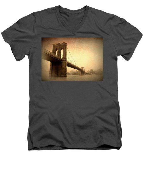Brooklyn Bridge Nostalgia II Men's V-Neck T-Shirt