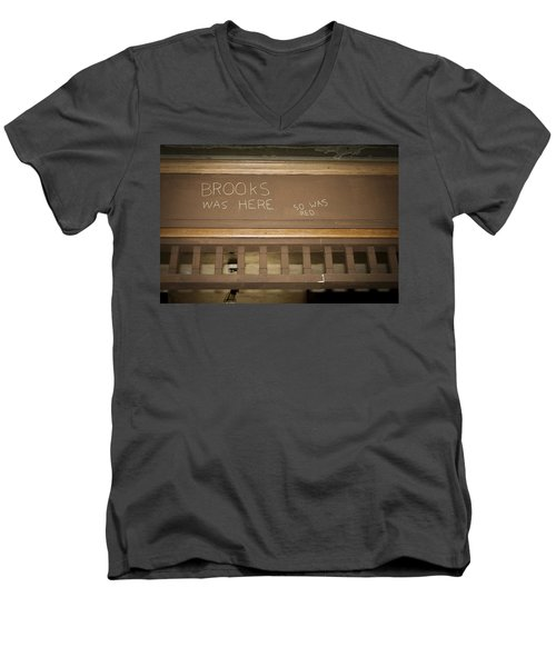 Brooks Was Here Men's V-Neck T-Shirt