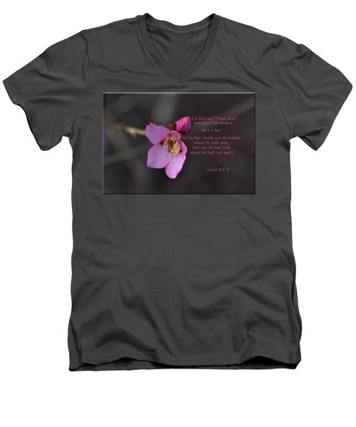 Men's V-Neck T-Shirt featuring the photograph Brotherly Love by Larry Bishop