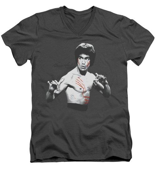 Bruce Lee - Final Confrontation Men's V-Neck T-Shirt by Brand A