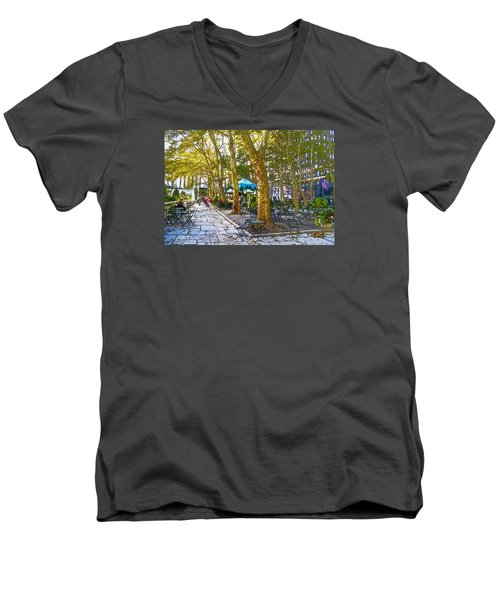 Bryant Park October Men's V-Neck T-Shirt