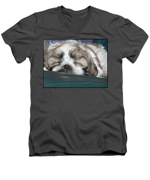 Men's V-Neck T-Shirt featuring the photograph Bubba by EricaMaxine  Price