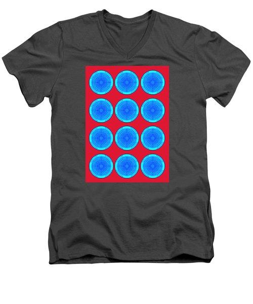 Bubbles Minty Blue Poster Men's V-Neck T-Shirt
