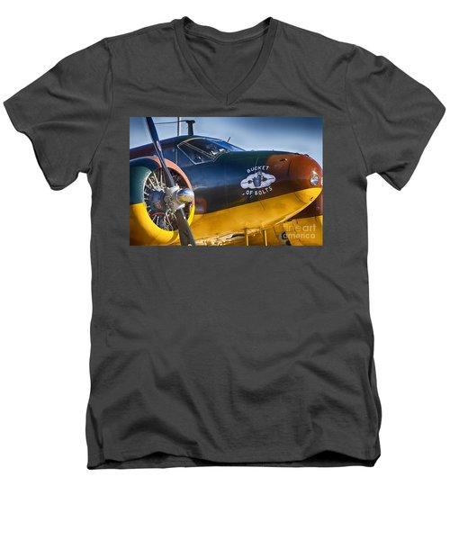Bucket Of Bolts Men's V-Neck T-Shirt by Douglas Barnard