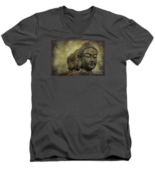 Buddha Bronze Men's V-Neck T-Shirt