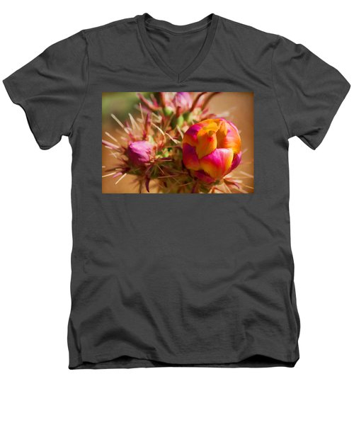 Budding Cactus Men's V-Neck T-Shirt
