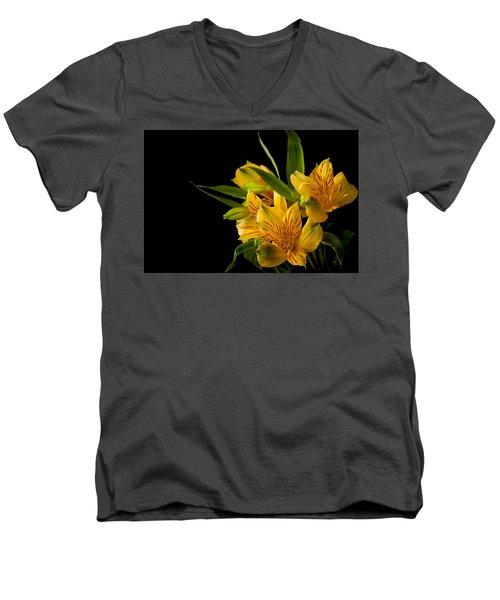 Men's V-Neck T-Shirt featuring the photograph Budding Flowers by Sennie Pierson