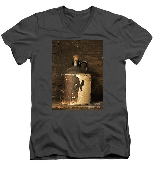 Buddy Bear Moonshine Jug Men's V-Neck T-Shirt