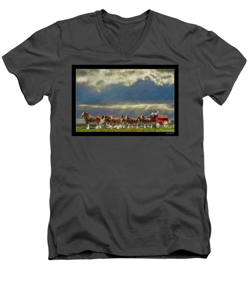 Budweiser Clydesdale Paint 2 Men's V-Neck T-Shirt