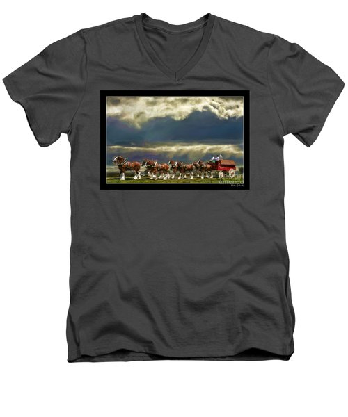 Budweiser Clydesdales Paint 1 Men's V-Neck T-Shirt
