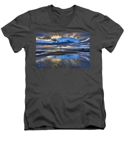 Bue Sky Reflections Men's V-Neck T-Shirt