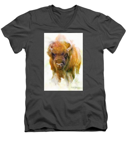Da176 Buffalo II Daniel Adams Men's V-Neck T-Shirt