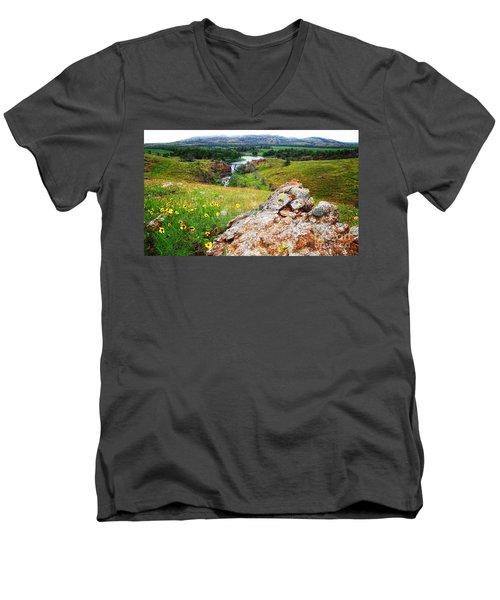 Buford Lake  Men's V-Neck T-Shirt