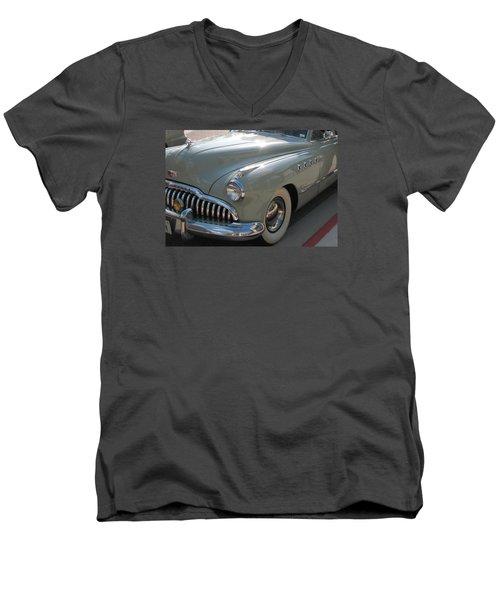 Buick Roadmaster Men's V-Neck T-Shirt by Connie Fox