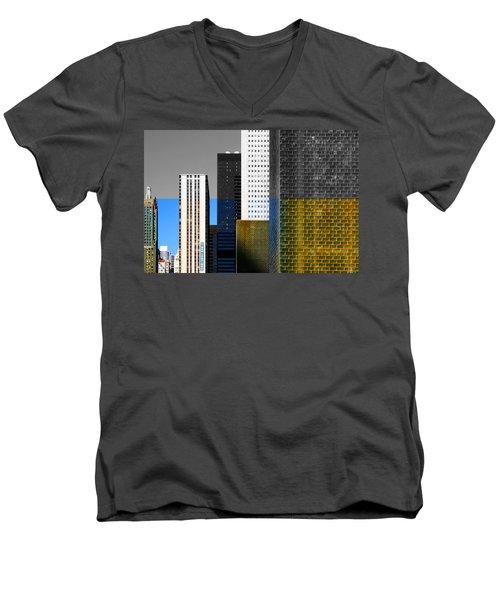 Building Blocks Cityscape Men's V-Neck T-Shirt