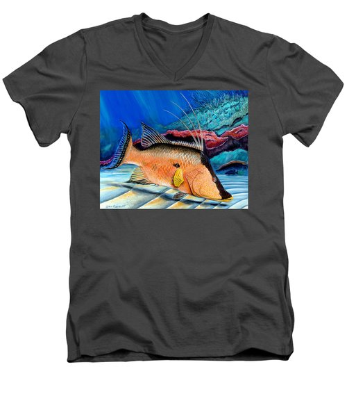Bull Hogfish Men's V-Neck T-Shirt