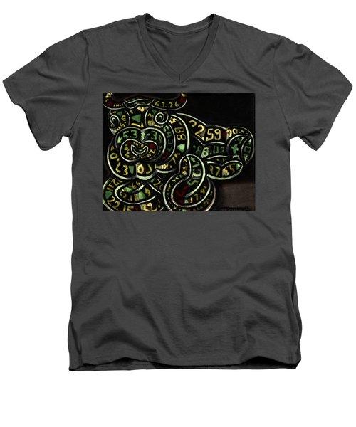 Tommervik Bull Market Art Print Men's V-Neck T-Shirt