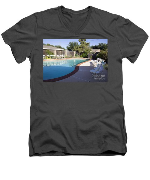 Burns 7393 Men's V-Neck T-Shirt by Alycia Christine