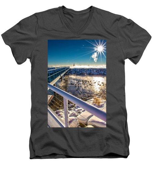 Burst Of Life Men's V-Neck T-Shirt