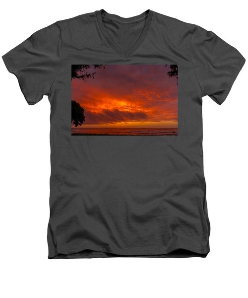 Bursting Sky Men's V-Neck T-Shirt