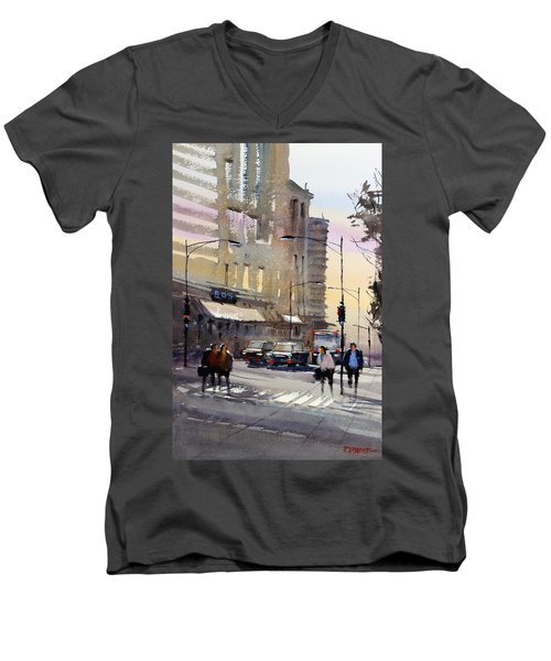Bus Stop - Chicago Men's V-Neck T-Shirt