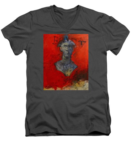 Bust Ted - With Sawdust And Tinsel  Men's V-Neck T-Shirt by Cliff Spohn