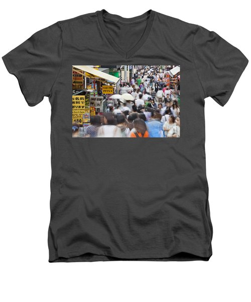 Busy Takeshita Dori Men's V-Neck T-Shirt