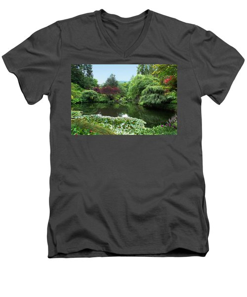 Butchart Gardens Men's V-Neck T-Shirt