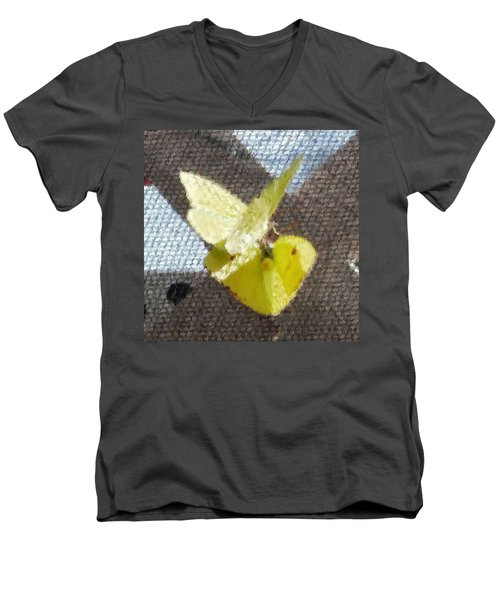 Men's V-Neck T-Shirt featuring the photograph Sulfur Butterflies Mating by Belinda Lee