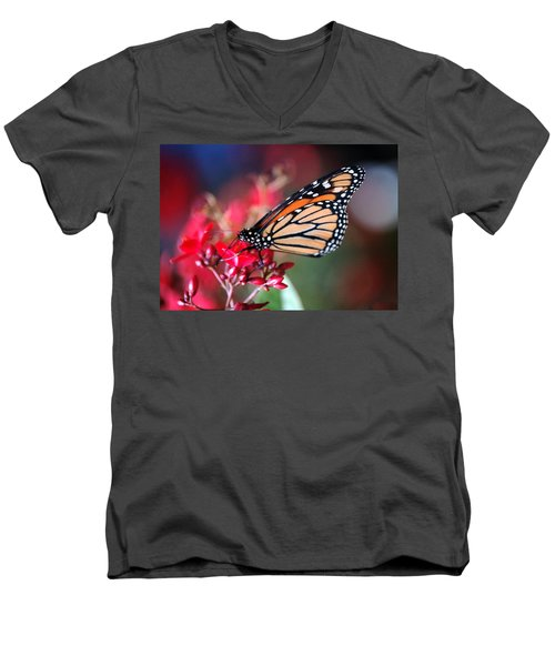 Men's V-Neck T-Shirt featuring the photograph Butterfly 2 by Leticia Latocki