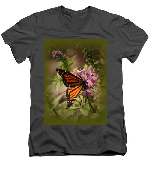 Men's V-Neck T-Shirt featuring the photograph Butterfly 5 by Leticia Latocki