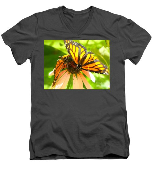 Butterfly And Friend Men's V-Neck T-Shirt