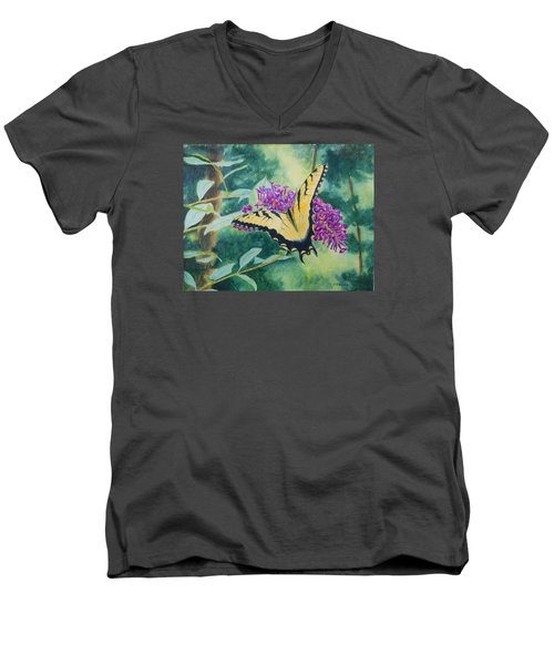 Butterfly Bush Men's V-Neck T-Shirt
