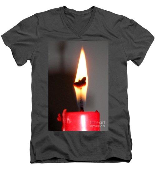 Butterfly Flame Men's V-Neck T-Shirt