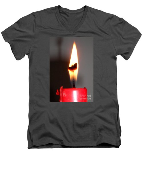 Butterfly Flame Men's V-Neck T-Shirt