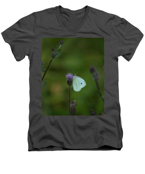 Butterfly In White 2 Men's V-Neck T-Shirt