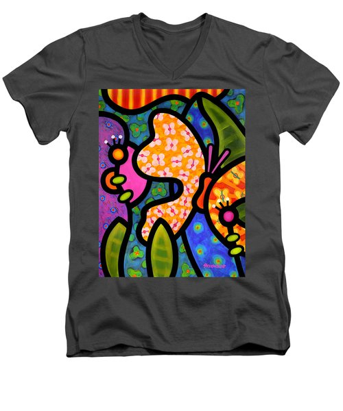 Butterfly Jungle Men's V-Neck T-Shirt