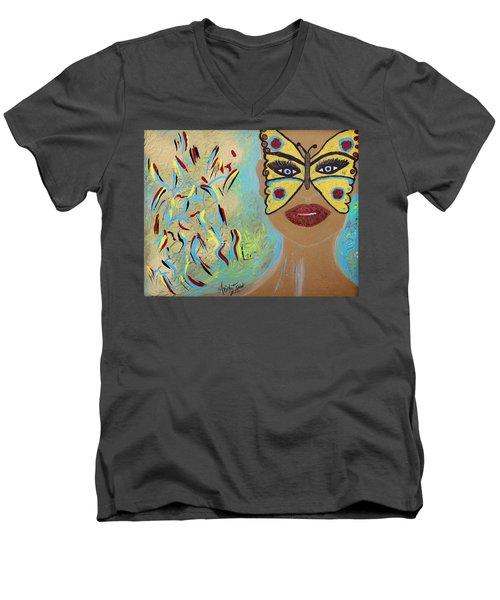 Butterfly Moment Men's V-Neck T-Shirt